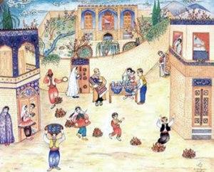"""Durant le """"mercredi enflammé"""", les Iraniens allument des feux et sautent par-dessus pour se débarrasser de leurs maux et gagner la force, la pureté et la vitalité du feu"""